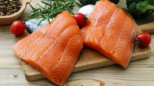 Receta de salmón a la carbonara