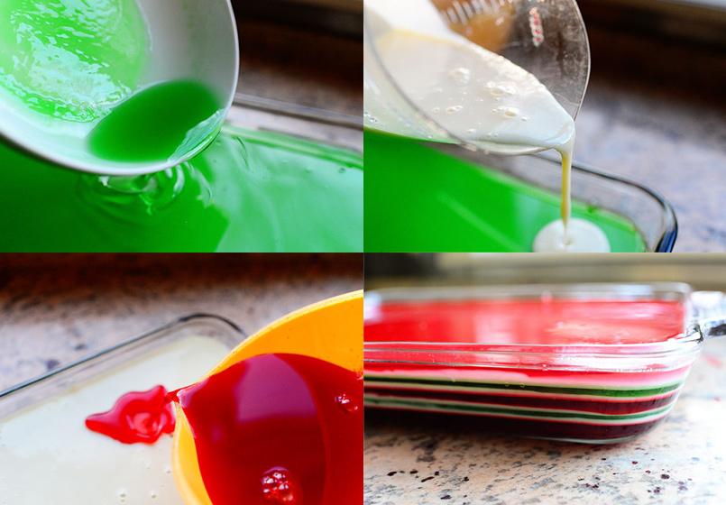 Gelatinas navideñas, ¡de colores! 2