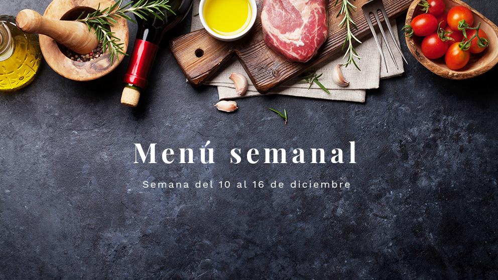 Photo of Menú semanal saludable: Semana del 10 al 16 de diciembre de 2018