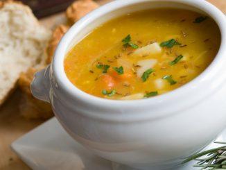 Receta de Sopa de pollo con guisantes 12