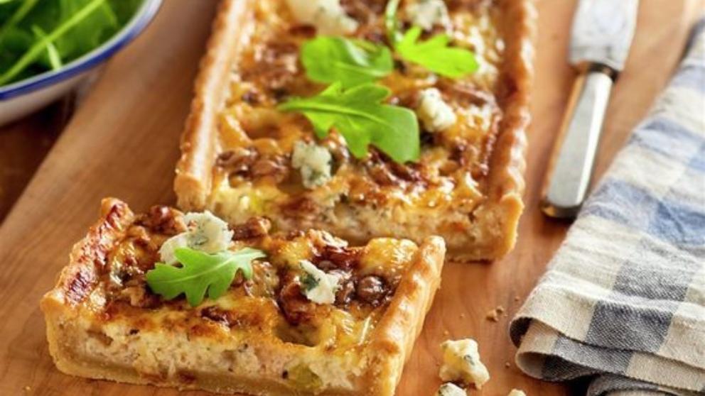 Photo of Receta de Tarta de nueces y roquefort