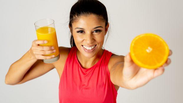 flan de jugo de naranja