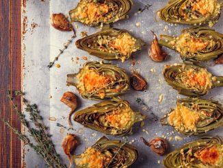 Receta de Alcachofas al horno con parmesano 3