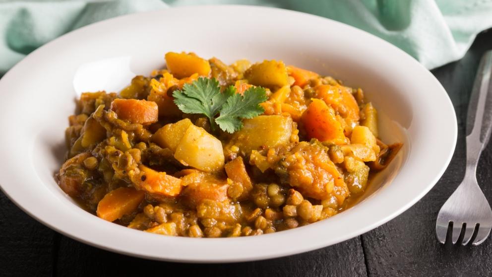Photo of Receta de Lentejas con pollo al curry