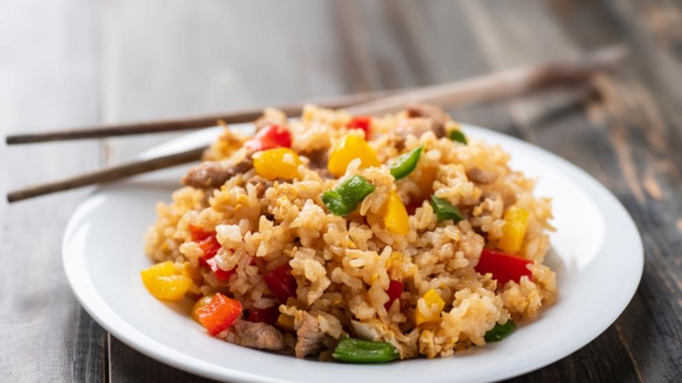 Receta de arroz crujiente con verduras 1