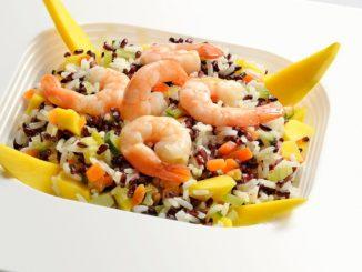Receta de Ensalada templada de arroz basmati con langostinos 12