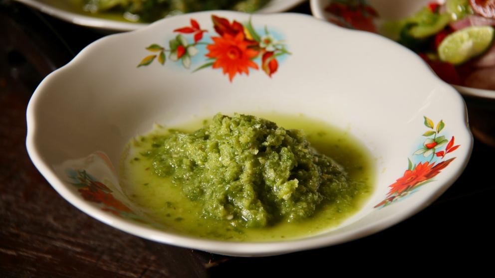 Receta de salsa de pimienta verde casera 1
