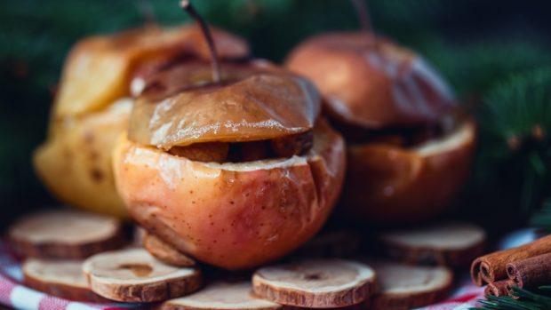 manzanas al horno con merengue