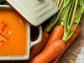 Receta de Crema de zanahoria y naranja con toque oriental 6
