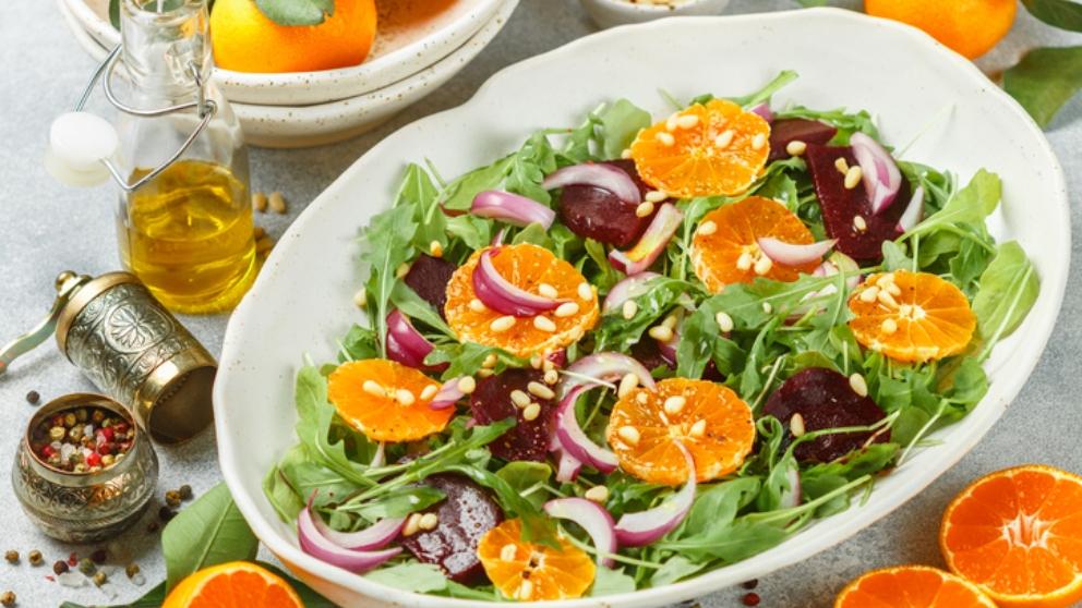 Photo of Receta de ensalada de naranja y olivas negras paso a paso