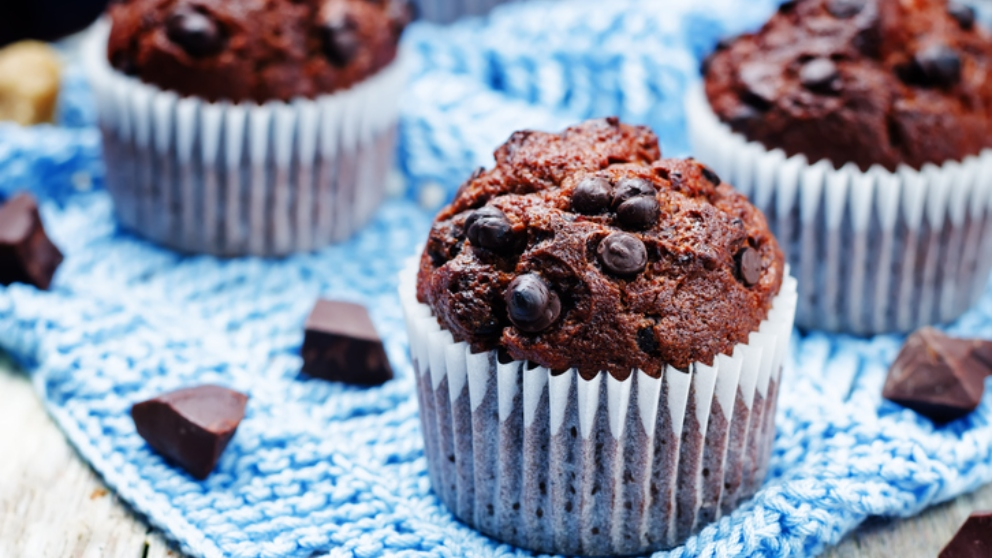 Photo of Recetas de Receta de muffins de chocolate con chips de chocolate