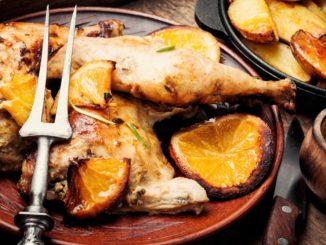 Receta de Muslitos de pollo con salsa de naranja y hierbas aromáticas 2