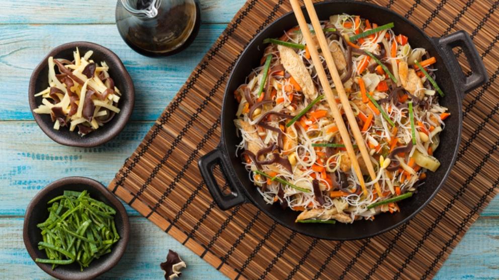 Photo of Receta de Noodles con setas shiitake