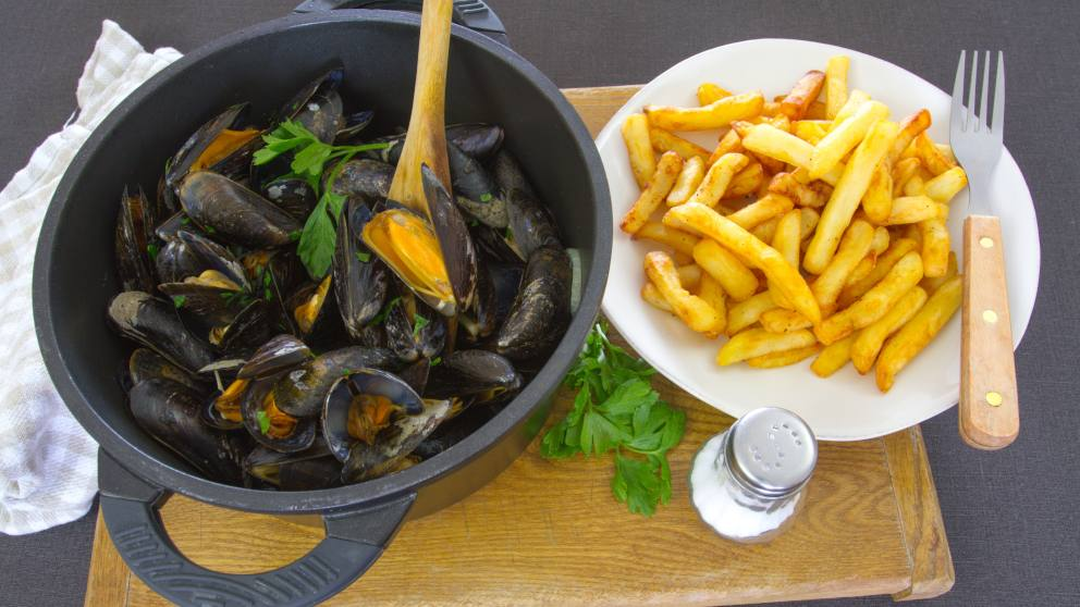 Photo of Receta de Moules et frites