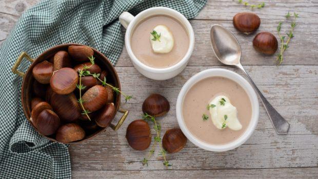 Photo of Receta de Sopa de castañas