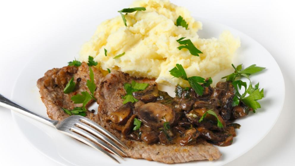 Receta de Escalopes de ternera con sésamo y puré de patata verde 1