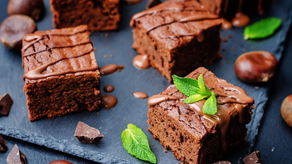 Receta de Pastel de chocolate y castañas 1