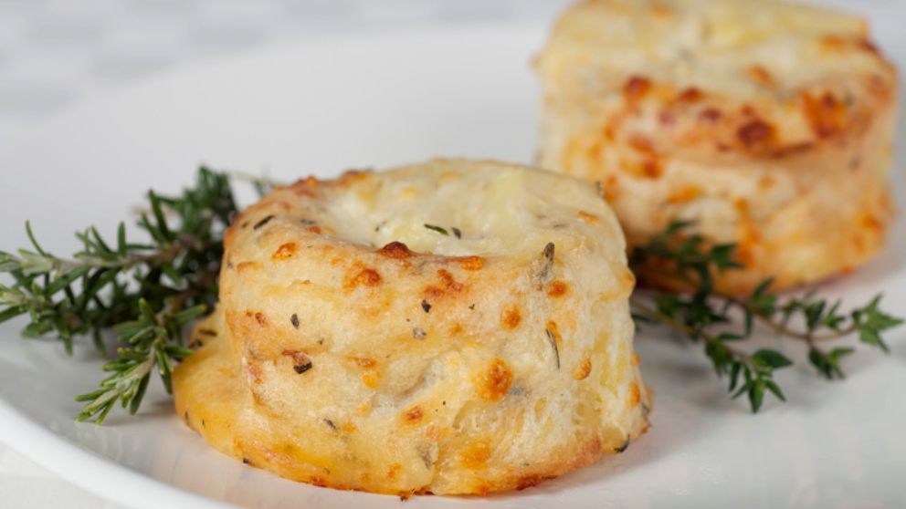 Photo of Receta de Soufflé de patatas, pollo y queso