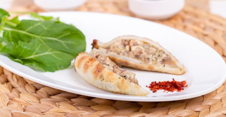 Receta de Calamares rellenos con queso crema 1