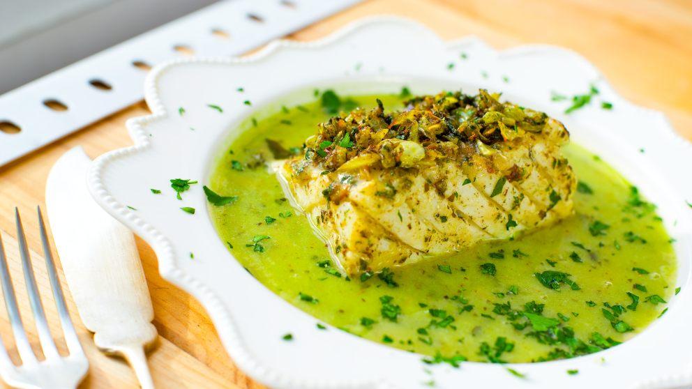 Receta de Cazón en salsa verde 1