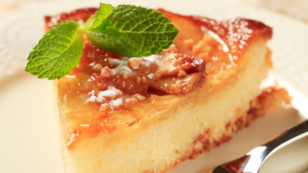 Receta de Tarta de manzana y flan 1