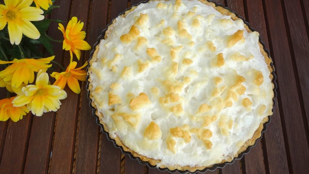 Receta de Tarta de piña y merengue horneada 1