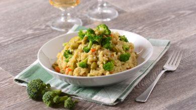 Photo of Receta de risotto de brócoli y almendras