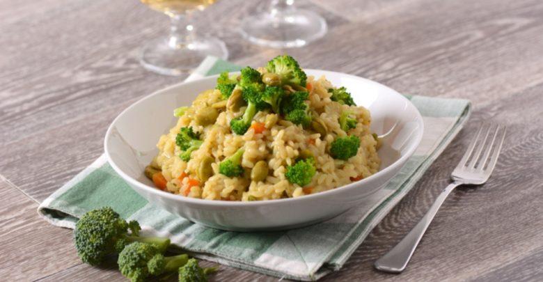 Receta de risotto de brócoli y almendras 1