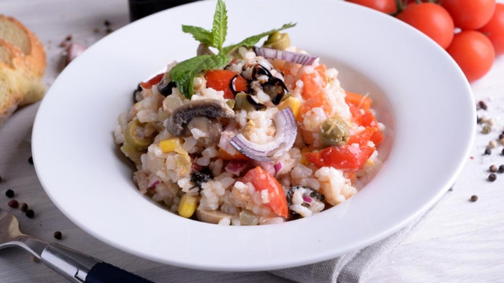 Receta de arroz con atún y guarnición de cebollas 1
