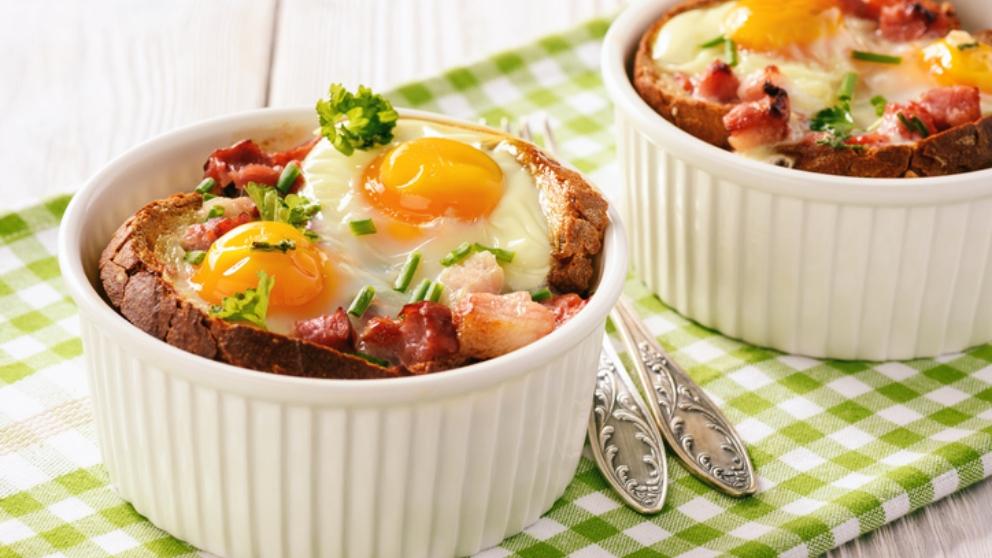 Receta de huevos con queso y jamón 1