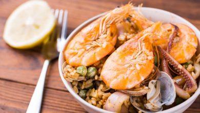 Photo of Receta de Paella de arroz, pulpo y gambas