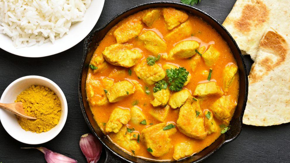 Receta de Pollo cocinado al estilo hindú 1
