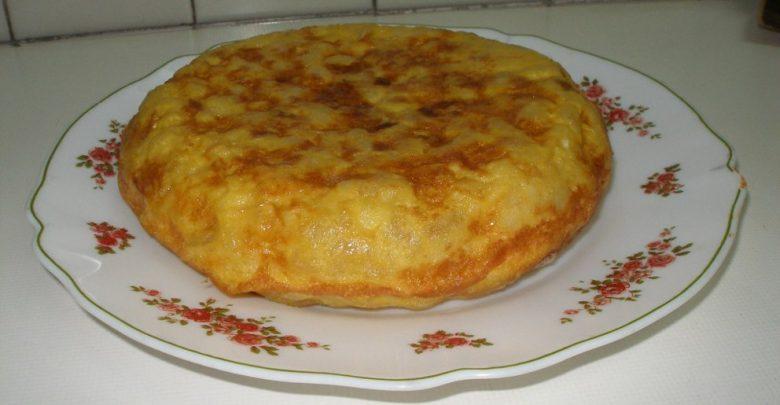 Receta de tortilla de patatas con puerros 1