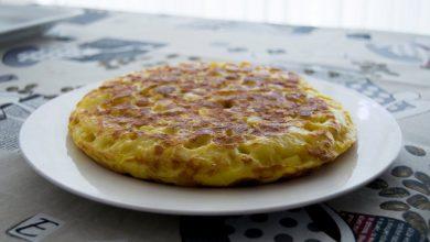 Photo of Receta de Tortilla de patatas con setas y gambas