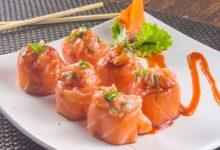 Photo of Receta de salmón en rollos con verduras