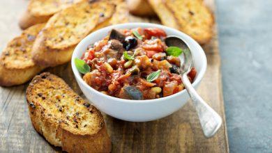 Photo of Receta de verduras al horno sobre pan de centeno