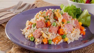Photo of Receta de arroz con jamón york al microondas