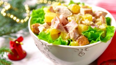 Photo of Receta de Ensalada de pavo con fruta