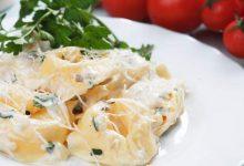 Photo of Receta de Tortellini rellenos de acelgas con salsa de queso