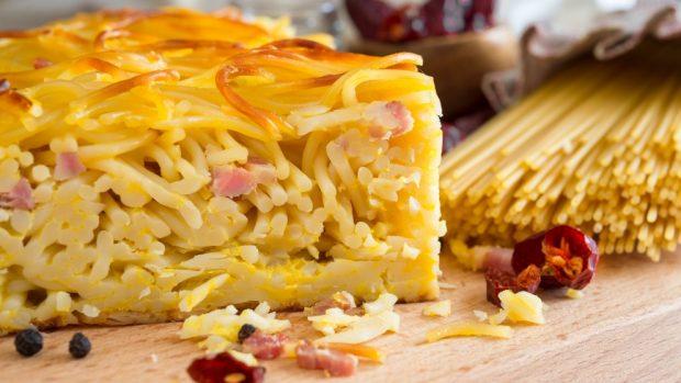 Receta de Tortilla de espaguetis 1