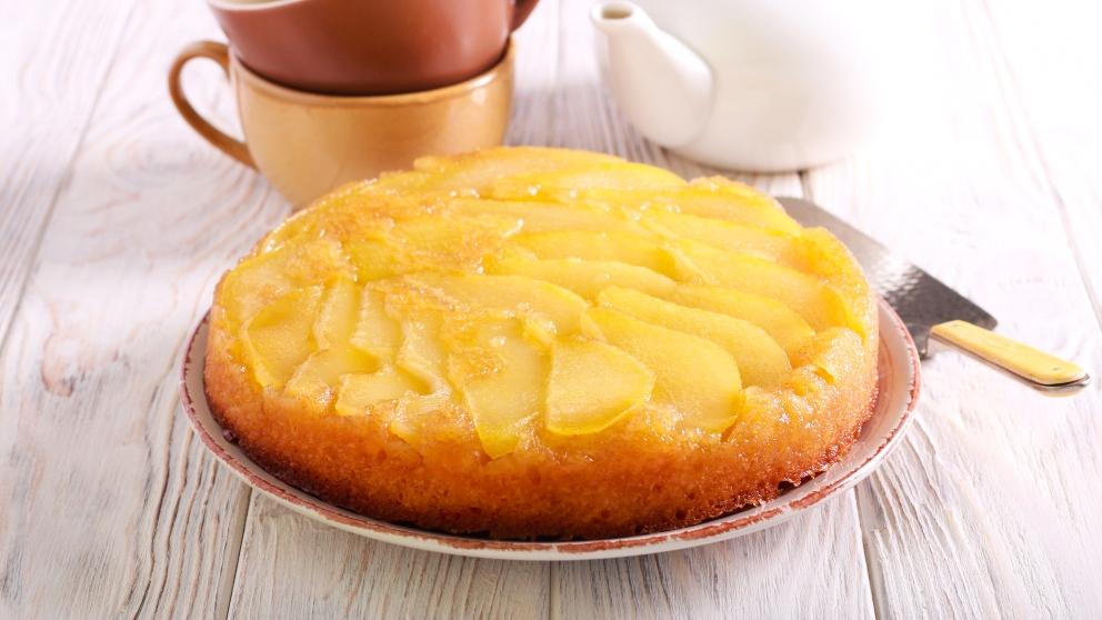 Pastel de pera, calabaza y manzana