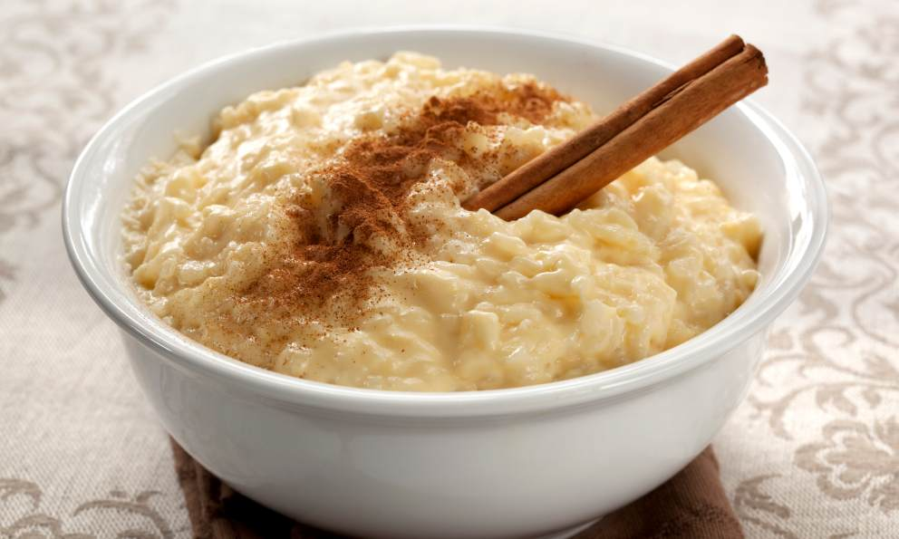 Risotto de arroz con leche dulce