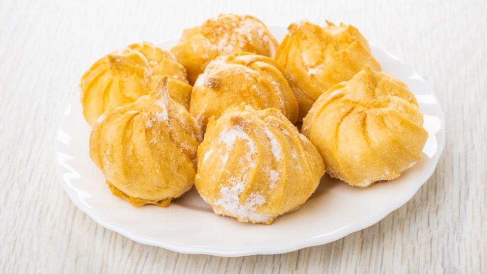 Receta de profiteroles de nata con mango 1