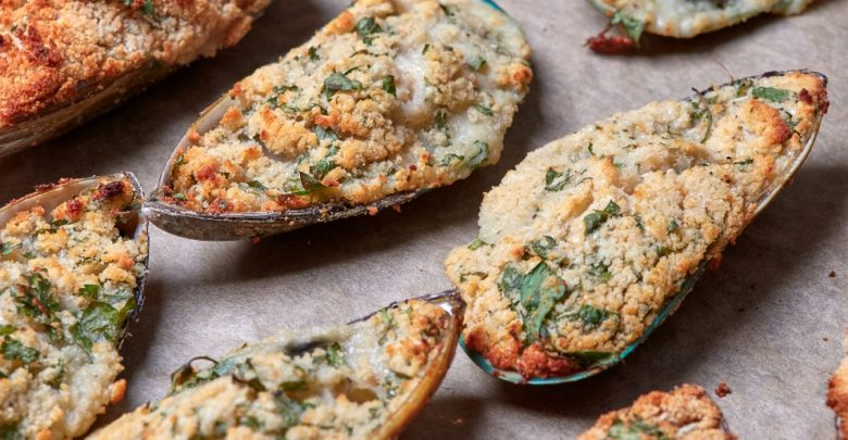 Receta de Mejillones con bechamel gratinados 1