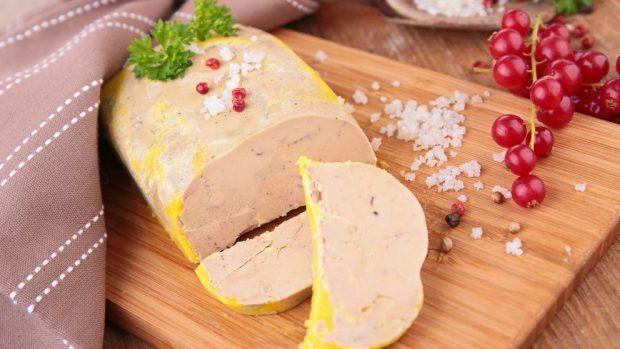 Mousse de foie y turrón