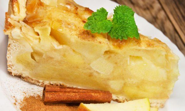 Flan de manzana con pan