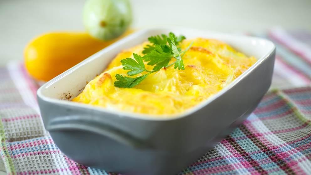 Pastel de calabacín al horno con queso