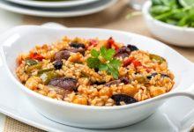 Photo of Receta de arroz al horno con morcilla y garbanzos