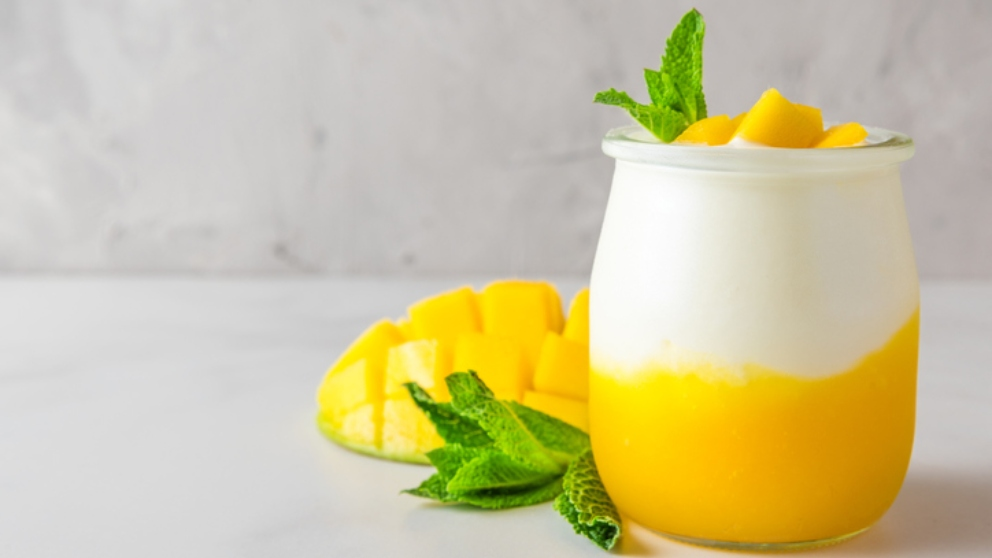 Photo of Receta de crema de mango con coco y queso