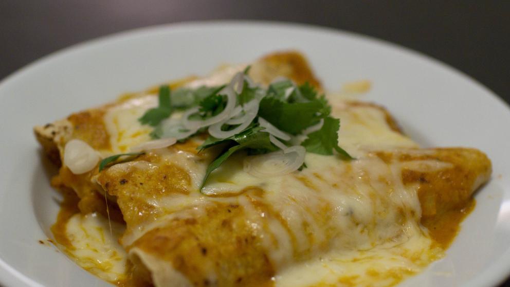 Receta de Enchiladas de langostinos con verduras 1
